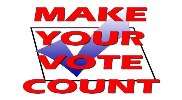 Make your vote count with tick in box